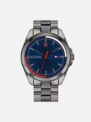 Pánske hodinky s ocelovým remienkom v striebornej farbe Tommy Hilfiger