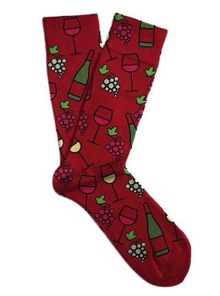 Soxit vínové unisex ponožky Red Wine