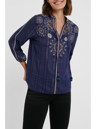 Desigual modré volná košile Blus Salina