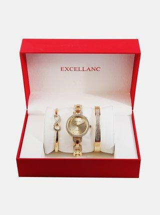Sada dámskych hodiniek a dvoch náramkov  Excellanc