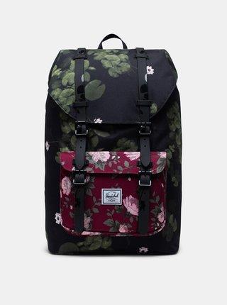 Černý květovaný batoh Herschel Supply