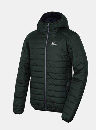Tmavě zelená pánská zimní prošívaná bunda Hannah