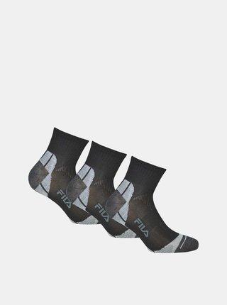 Sada troch párov čiernych členkových ponožiek FILA