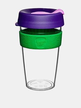 Fialový plastový cestovní hrnek KeepCup Clear Spring large 454 ml