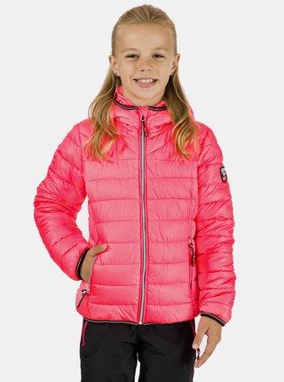 Ružová dievčenská prešívaná bunda SAM 73