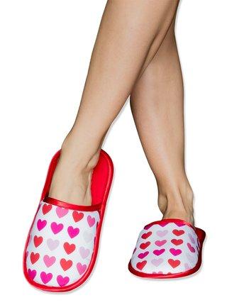 Slippsy červené domácí unisex pantofle Sweet Love