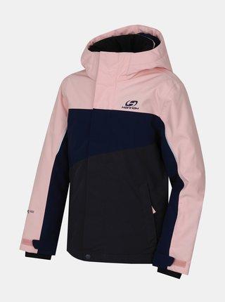 Modro-růžová holčičí zimní bunda Hannah