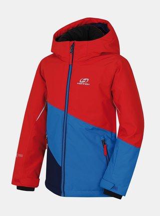Červeno-modrá chlapčenská zimná bunda Hannah