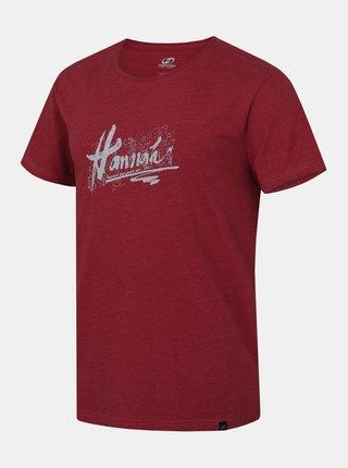 Vínové pánske tričko s krátkym rukávom Hannah