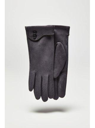 Moodo šedé rukavice s knoflíčky