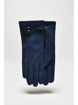 Moodo modré rukavice s knoflíčky