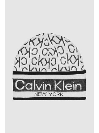 Calvin Klein černo-bílá čepice Beanie J