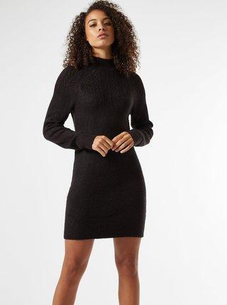 Černé svetrové šaty Dorothy Perkins Tall