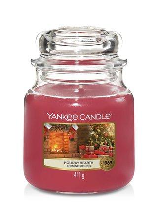 Yankee Candle vonná svíčka Holiday Hearth Classic střední