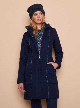 Tmavě modrý dámský zimní kabát Tranquillo