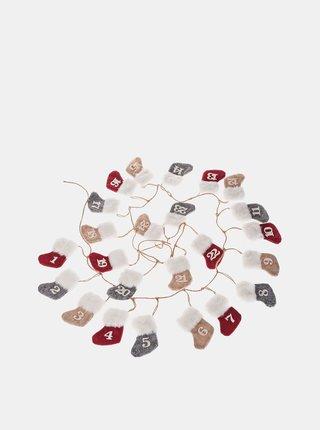 Červený závesný adventný kalendár Dakls