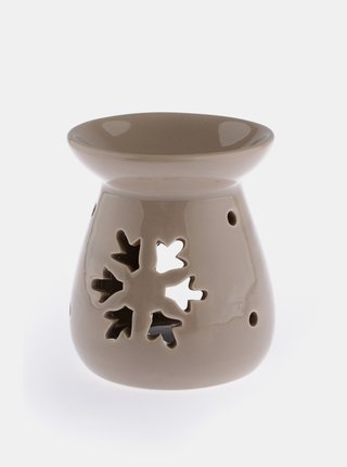 Hnedá keramická aromalampa Dakls