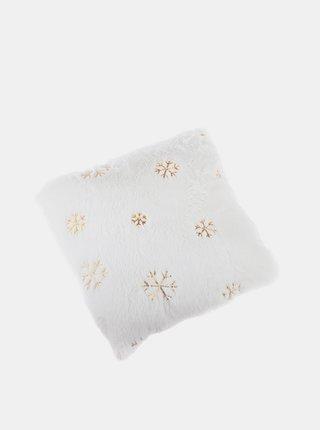 Bílý vzorovaný polštář Dakls