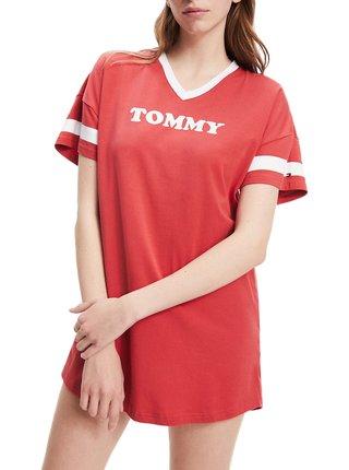 Tommy Hilfiger červené volné šaty VN Dress SS