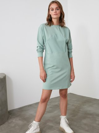 Světle zelené mikinové šaty Trendyol