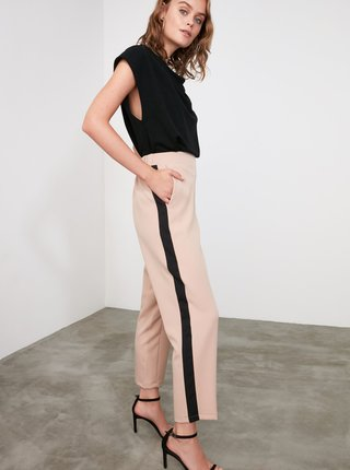 Béžové nohavice Trendyol