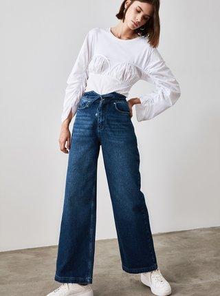 Modré mom fit džíny Trendyol