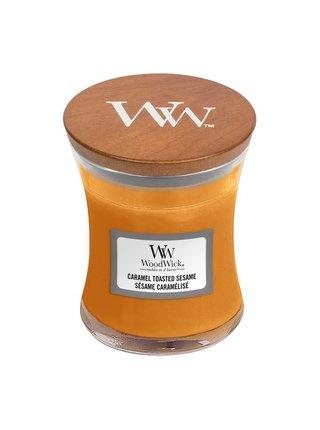 WoodWick vonná svíčka Caramel Toasted Sesame malá váza