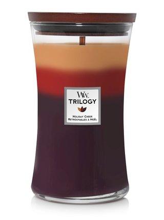 WoodWick vonná svíčka Trilogy Holiday Cheer velká váza