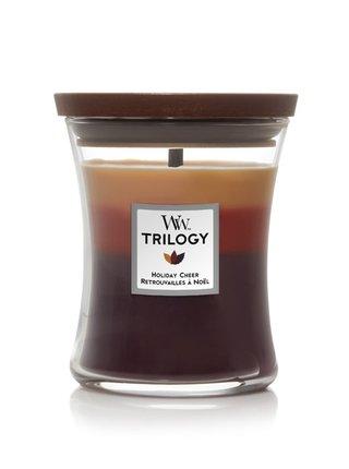 WoodWick vonná svíčka Trilogy Holiday Cheer střední váza