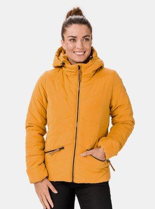 Žlutá dámská zimní prošívaná bunda SAM 73