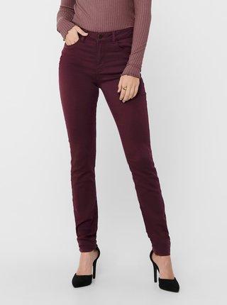 Vínové skinny fit kalhoty Jacqueline de Yong