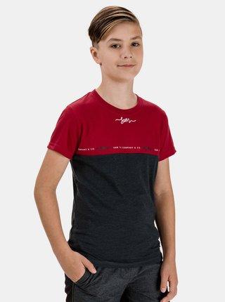 Červeno-šedé klučičí tričko SAM 73