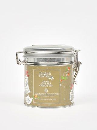 Darčeková dóza s čajmi v striebornej farbe English Tea Shop
