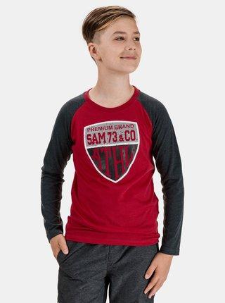Červené chlapčenské tričko s potlačou SAM 73