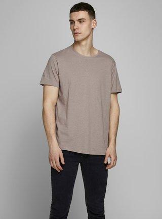 Béžové tričko s příměsí lnu Jack & Jones