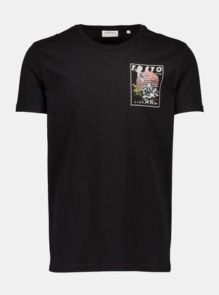 Černé tričko Lindbergh