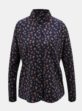 Tmavomodrá vzorovaná košeľa VERO MODA