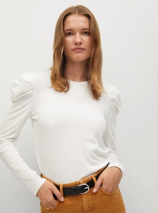 Bílé tričko Mango