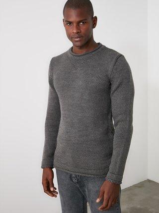 Šedý pánský svetr Trendyol