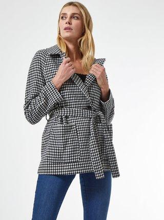 Bílo-černý vzorovaný krátký kabát Dorothy Perkins