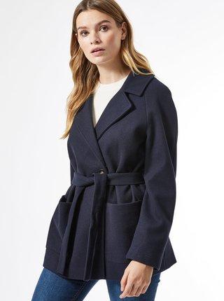 Tmavě modrý krátký kabát Dorothy Perkins