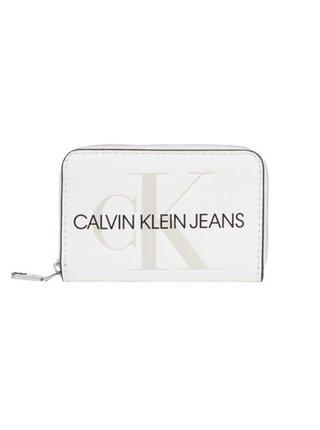 Calvin Klein bílá peněženka Accordion Zip Around