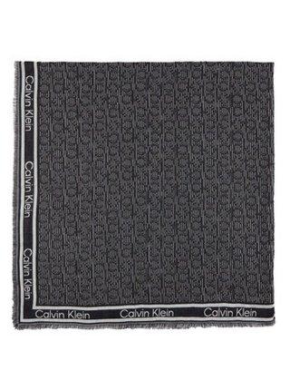 Calvin Klein černá šála Mono J Scarf