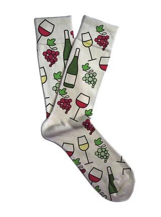 Soxit bílé unisex ponožky White Wine