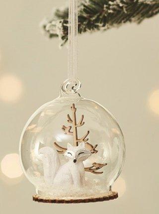 Skleněná závěsná vánoční dekorace Sass & Belle