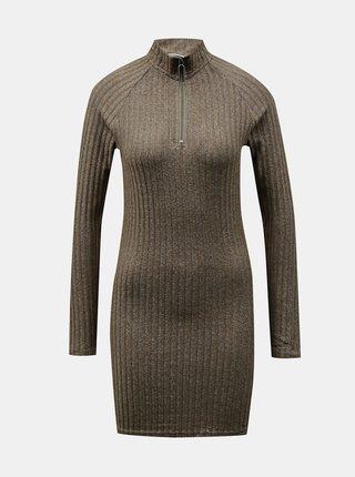 Khaki svetrové šaty Noisy May Kelly