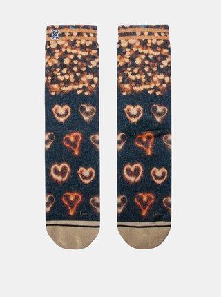 Modro-hnědé dámské ponožky XPOOOS