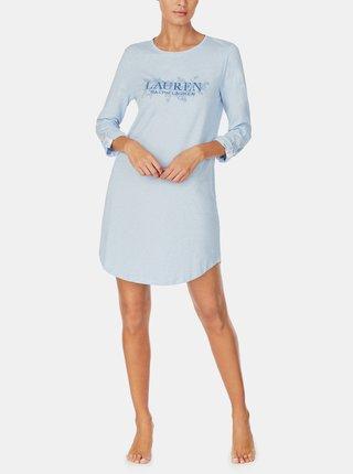 Modrá dámska nočná košeľa Lauren Ralph Lauren