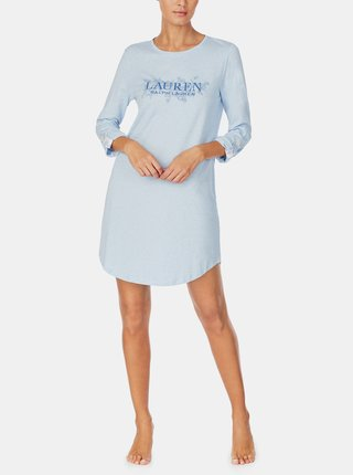 Modrá dámská noční košile Lauren Ralph Lauren