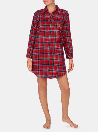 Červená dámská károvaná noční košile Lauren Ralph Lauren